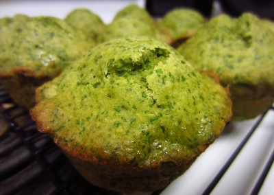 Eco muffins with spinach